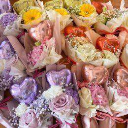 歓送迎会に人気のミニサイズブーケ【熊本花屋・フラワーバルーンKIKI】