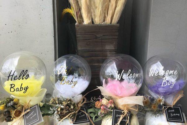 他とは被らないおしゃれなおむつケーキ【熊本の花屋・バルーンショップKIKI】