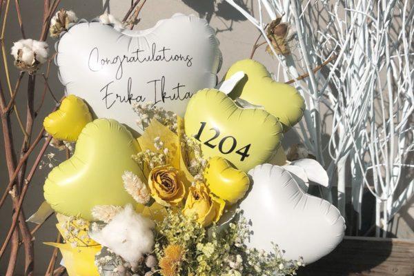▪dry×balloon  yellow color▪【熊本の花屋・バルーンショップKIKI】