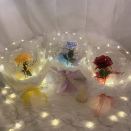 LEDライト付きロマンティックバルーン【熊本花屋・フラワーバルーンKIKI】