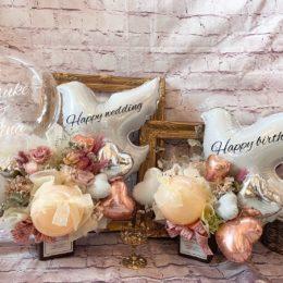 結婚式の贈り物にも人気なバードバルーンアレンジ🕊【熊本花屋・フラワーバルーンKIKI】